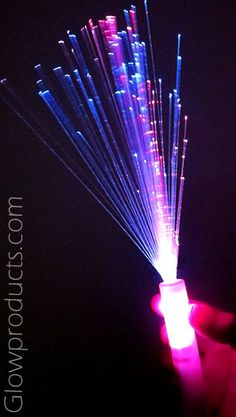 36d27e8f3c9 Long Strand Fiber Optic Wands with Multiple Color Settings - Great for  Wedding Send-Offs