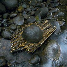 Andy Goldsworthy, 'River boulder reworked with sticks raining, Woody Creek, Colorado, September Haines Gallery Land Art, Andy Goldsworthy Art, Ephemeral Art, Landscape Elements, Landscape Architecture, Landscape Design, Nature Artists, Sculptures For Sale, Metal Sculptures
