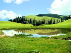 Payee Lake is situated in centre of meadow in Payee, near Shogran in Kaghan Valley, Pakistan.
