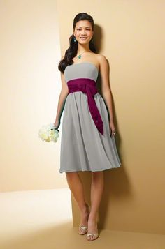 Alfred Angelo Bridesmaid Dress. I like to two tone idea. Maybe for the MOH? @Jennifer Milsaps Byrd
