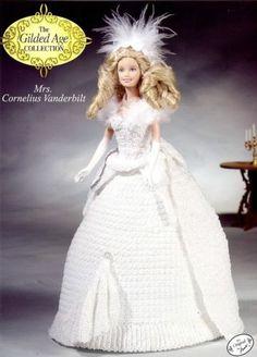 Mrs. Cornelius Vanderbilt Outfit for Barbie Annie's Gilded Age Crochet Pattern