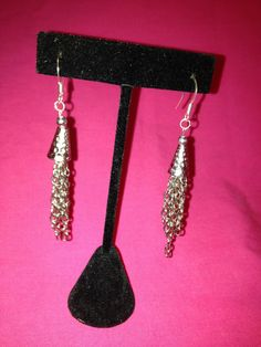 Sterling Silver dangling chain with by SassyGirlJewelrycom on Etsy, $40.00