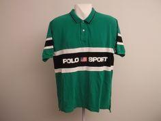 BK's Cupboard — Polo Sport spellout polo shirt size xl