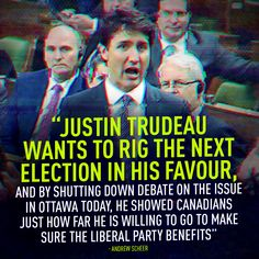 Justin Trudeau wants to RIG the next election in his favour. Liberal Hypocrisy, Politics, Truth Hurts, It Hurts, Liberal Party, Evil Empire, Fun Signs, Justin Trudeau