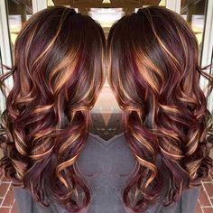 . Kupfer Balayage Haare färben für Langes Haar