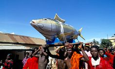 Ghanaian coffins are often built to reflect the profession or standing of the deceased. Photograph: Jack Picone/Alamy