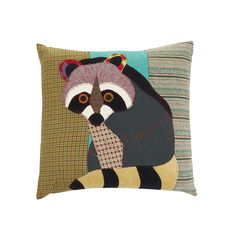Discover the Carola van Dyke Raccoon Cushion at Amara