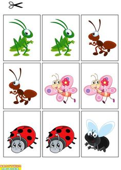 Montessori Matching Activity for Toddlers Autism Crafts, Preschool Crafts, Toddler Learning Activities, Montessori Activities, Free Printable Art, Animal Crafts For Kids, Montessori Materials, Bugs And Insects, Math For Kids