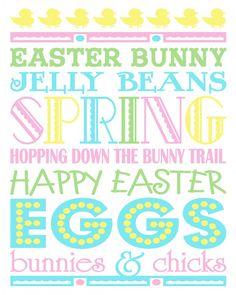 Easter Subway Art Printable – FREE