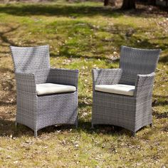 Southern Enterprises Bristow Outdoor Easy Chair - Set of 2 - HN7744-1