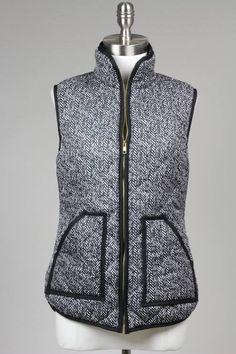 Herringbone jcrew inspired vest by TheMonogramBoutique1 on Etsy