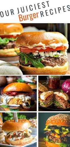 31 must-try burger recipes for Father& Day and beyond - summer party . - 31 must-try burger recipes for Father& Day and beyond – summer feasts. Bbq Burger, Beef And Pork Burgers, Hamburgers Gastronomiques, Best Grilled Burgers, Grilled Burger Recipes, Best Burger Recipe, Lamb Burgers, Stuffed Burgers, Gourmet Burgers