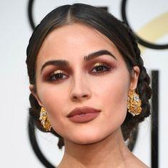 olivia culp • Golden Globes 2017 • fierce makeup • maquiagem para festas • maquiagem em tons terrosos • batom marrom • geração 2010