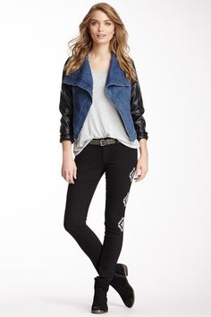 Embroidered Jean by Romeo & Juliet Couture on @HauteLook