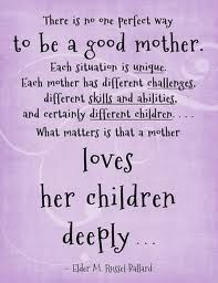 being a good mom