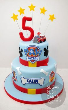 Paw Patrol Cake by Sugar Rush Cakes Montreal Birthday Cakes For Men, 18th Birthday Cake, Homemade Birthday Cakes, Cakes For Boys, Birthday Ideas, Sugar Rush, Torta Paw Patrol, Cupcakes Cool, Cake Designs For Boy
