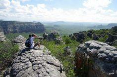 """""""O Parque Nacional do Catimbau, localizado no sertão/agreste de Pernambuco, possui sítios arqueológicos e registros de pinturas rupestres datados de pelo menos 6.000 anos.-PE- Brasil"""