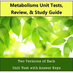 Included are two versions of the unit assessment, answer keys,  review PowerPoint, and a study guide.This test, review, and study guide works great with my Metabolism unit! Check it out here: Metabolism BundleInterested in more biology tests? My full year bundle has 2 versions of each test with answer keys, review, and study guides for 10 units.Check it out here: Biology Unit Tests - Full Year Bundle==========================================================Want a FULL YEAR of biology…