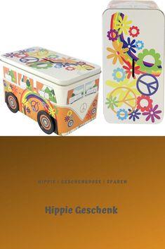 Das auffallende Bulli Hippie Design dieser Dose aus Blech ist originell und edel und eignet sich von daher perfekt als dekoratives Element für jeden Raum. Diese Gelddose ist eine super Geschenkidee und ein tolles Geschenk für Anlässe wie Geburtstag, Taufe, Hochzeit, Einschulung und viele andere Gelegenheiten. Spardose 19,7 x 10,8 x 11 cm aus Weißblech in bunter Farbe.Qualität made in Germany! Co2 Neutral, Trucks, No Plastic, Super, Decorative Boxes, Container, Design, Home Decor, Great Gifts