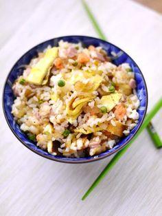 Riz cantonais facile - Recette de cuisine Marmiton : une recette