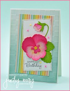 Stampin' Up! Pansy Patch Bundle | Judy May, Just Judy Designs 3d Projects, Pansies, Stampin Up, Appreciation, Track, Happy Birthday, Cat, Gifts, Design