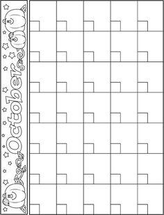 October Calendar Template Preschool Schedule Kids Print