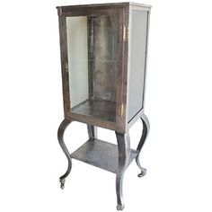 1900s American Medical Metal Cabinet | From a unique collection of antique and modern apothecary cabinets at https://www.1stdibs.com/furniture/storage-case-pieces/apothecary-cabinets/