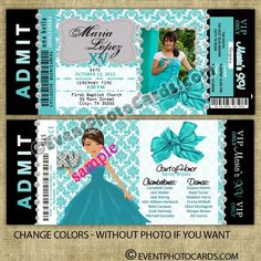 Quince Invitaciones for Breakfast at Tiffany - Quinceanera Invitations, Sweet Sixteen Invitations, Vip Passes - (Powered by CubeCart)