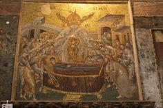 Mosaico de la Dormición de la Virgen en San Salvador de Chora