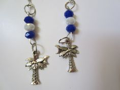 Blue White Crystal Beads and Silver South by InJamiesHands on Etsy, $6.50