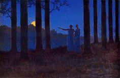 Alphonse Osbert (French, Symbolism,1857-1939): The mystery of the night, 1897