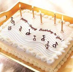 Music Themed Sheet Cake