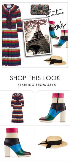 """""""STRIPES"""" by danielle-487 ❤ liked on Polyvore featuring Gucci, Valentino, Eugenia Kim and Fendi"""