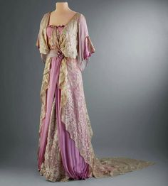 Evening dress, ca. 1910-1914. Worn by Marjorie Merriweather Post. Hillwood Museum
