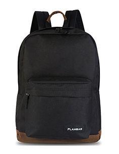 Plambag Unisex Basic Backpack Padded Pakr School Student Daypack Bag 24L BlackBrown >>> Learn more by visiting the image link.