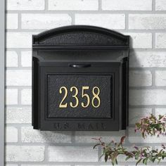 Whitehall Personalized Wall Mailbox Plaque | Hayneedle Mailbox Landscaping, Mulch Landscaping, Landscaping Ideas, Wall Mount Mailbox, Mounted Mailbox, Landscape Concept, Landscape Design, Personalized Plaques, Address Plaque