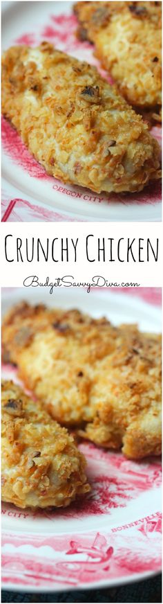 Easy Dinner Recipe Alert - Super easy chicken recipe - done in about 30 minutes - perfect weekday meal - My family cannot wait to try it again - Crunchy Chicken Recipe