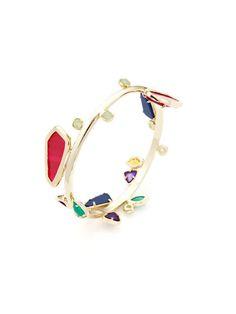 Multi-Stone Bangle Bracelet by Kendra Scott via Gilt
