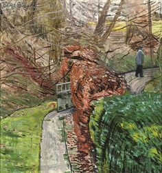 Man on a Country Lane - Carel Weight Royal Engineers, Tate Gallery, Air Raid, British English, Civil Society, Royal College Of Art, Rome Travel, Urban Life, Victoria And Albert Museum
