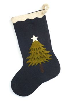 The Holiday Aisle Hand Felted Wool Christmas Tree Stocking Diy Stockings, Felt Christmas Stockings, Felt Stocking, Stocking Tree, Stocking Ideas, Christmas Projects, Christmas Crafts, Christmas Ornaments, Christmas Tree