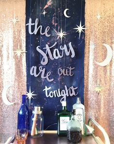Celestial backdrop, stars decorations, starry night, night sky #constellationbackdrop #starrybackdrop
