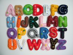 Alphabets - Vintage Applique Alphabet - The Embroidery Boutique Alphabet A, Teaching The Alphabet, Small Letters, Letters And Numbers, Felt Crafts, Diy Crafts, Embroidery Boutique, Hand Embroidery, Educational Toys For Toddlers