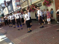 morris dancers outside The Sun, West Street at the Hop Festival 2013