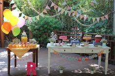 Cute backyard party