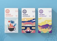 Tra Dinh Tea on Packaging of the World - Creative Package Design Gallery Food Packaging Design, Coffee Packaging, Packaging Design Inspiration, Brand Packaging, Bottle Packaging, Brochure Design, Branding Design, Identity Branding, Corporate Design