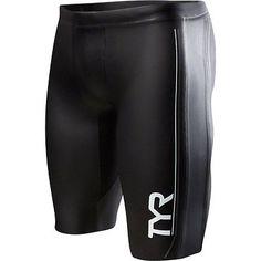 TYR Hurricane Cat 1 NEO Men's Neoprene Training and Racing Shorts: Black/Gray LG