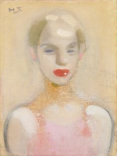 Helene Schjerfbeck - Circus Girl, oil on canvas, Ateneum Art Museum, Helsinki. Helene Schjerfbeck, Helsinki, Portraits Illustrés, Pierrot Clown, Royal Academy Of Arts, Montage Photo, Figurative Art, Painting Inspiration, Female Art