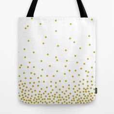 Gold polka dot Tote Bag by cafelab - $22.00