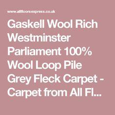 Gaskell Wool Rich Westminster Parliament 100% Wool Loop Pile Grey Fleck Carpet - Carpet from All Floors UK