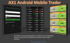 Ax1 Trader is the best trading platform in android .Its secure & Reliable. Trade on Forex and Future markets at the comfort of your mobile anywhere . http://www.ax1systems.com